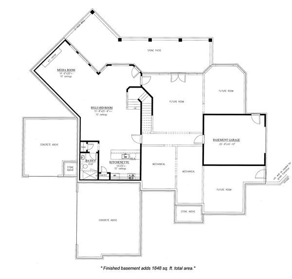 Traditional Floor Plan - Other Floor Plan Plan #437-86
