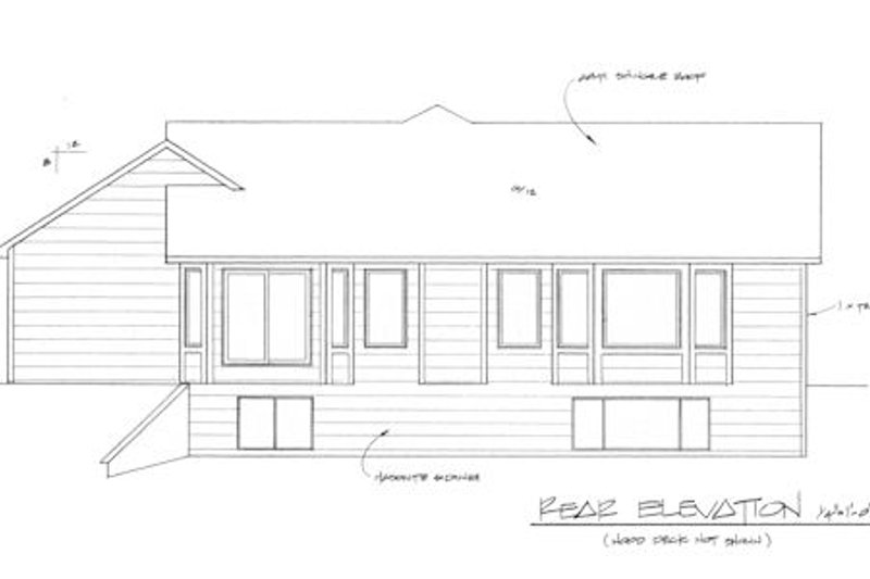 Mediterranean Exterior - Rear Elevation Plan #58-212 - Houseplans.com