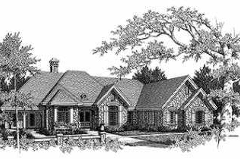 European Exterior - Front Elevation Plan #70-468 - Houseplans.com