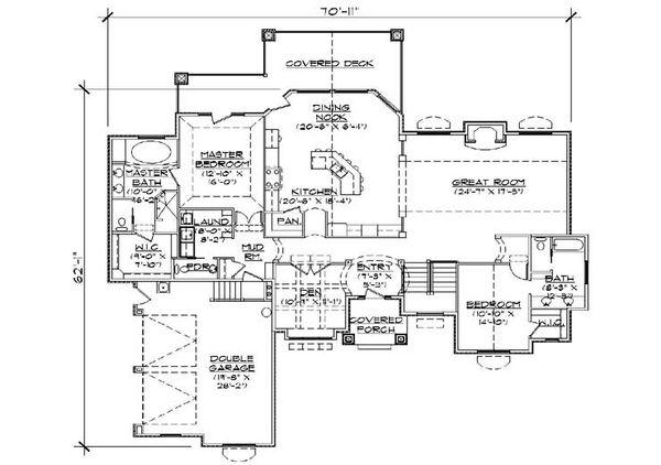 House Plan Design - Traditional Floor Plan - Main Floor Plan #5-360