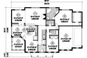 Classical Style House Plan - 2 Beds 2 Baths 1983 Sq/Ft Plan #25-4822 Floor Plan - Main Floor Plan