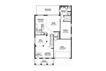 Colonial Floor Plan - Main Floor Plan Plan #1058-68