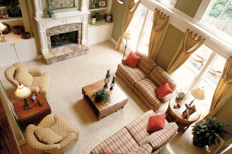 Mediterranean Interior - Family Room Plan #927-639 - Houseplans.com