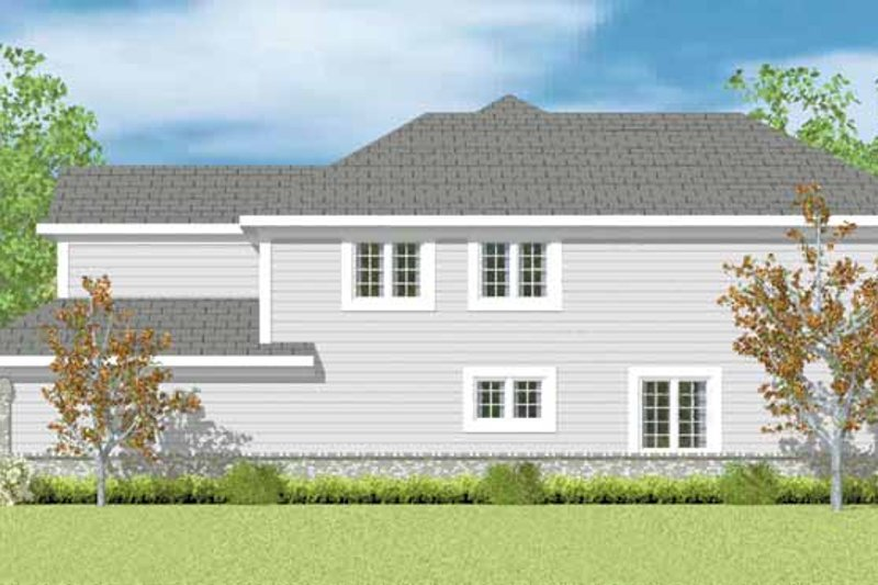 House Blueprint - Classical Exterior - Other Elevation Plan #72-1089