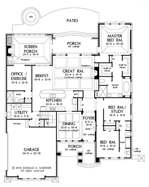 European Floor Plan - Main Floor Plan Plan #929-987