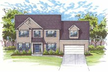 Traditional Exterior - Front Elevation Plan #435-21