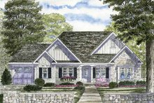 Architectural House Design - Ranch Exterior - Front Elevation Plan #316-249