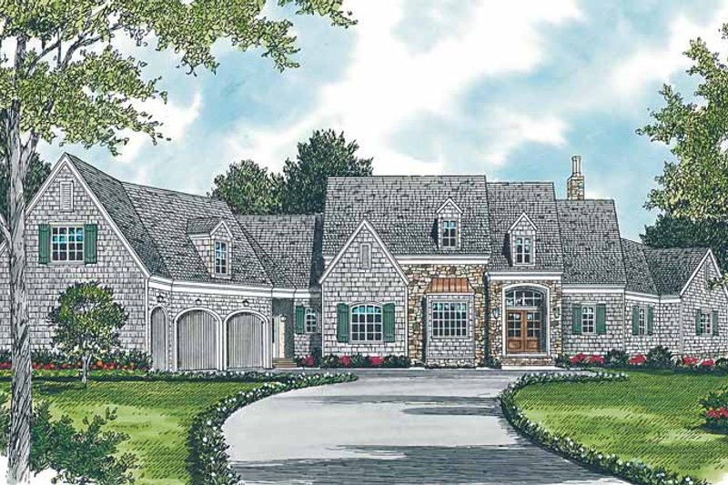 Country Exterior - Front Elevation Plan #453-236
