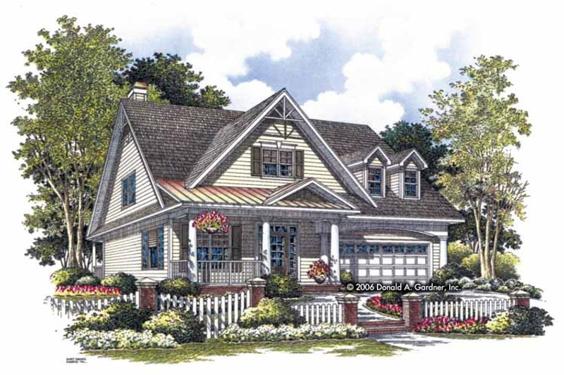 Craftsman Exterior - Front Elevation Plan #929-814