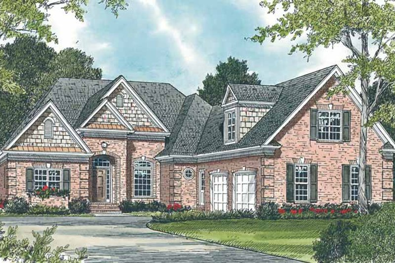 Country Exterior - Front Elevation Plan #453-260