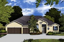 Mediterranean Exterior - Front Elevation Plan #1015-24