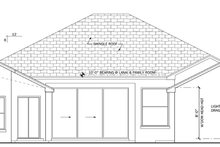 Mediterranean Exterior - Rear Elevation Plan #1058-40