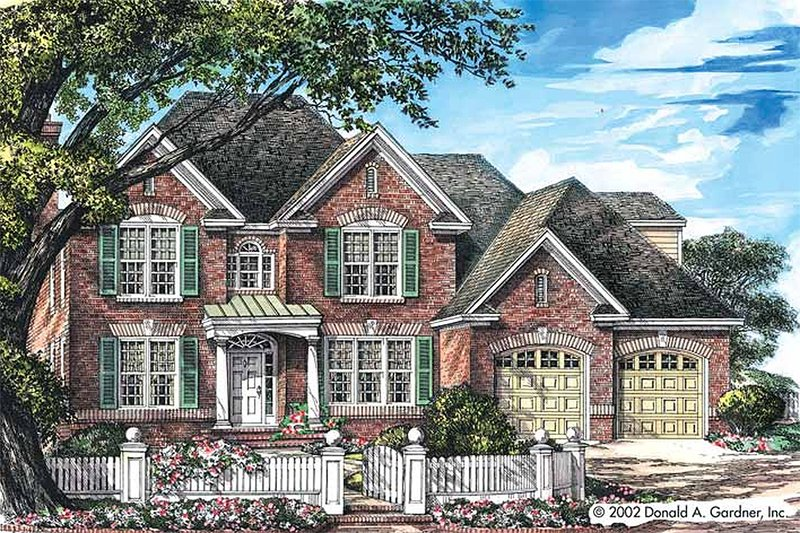 Dream House Plan - Classical Exterior - Front Elevation Plan #929-668