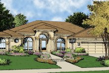 Home Plan - Mediterranean Exterior - Front Elevation Plan #417-669