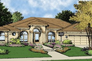 Mediterranean Exterior - Front Elevation Plan #417-669