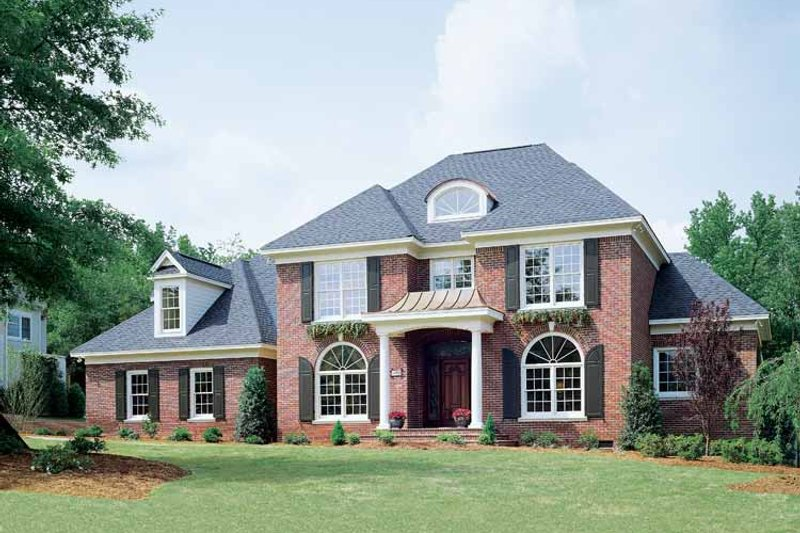 Colonial Exterior - Front Elevation Plan #929-571 - Houseplans.com