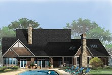 Craftsman Exterior - Rear Elevation Plan #929-962