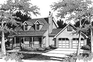 Country Exterior - Front Elevation Plan #14-217