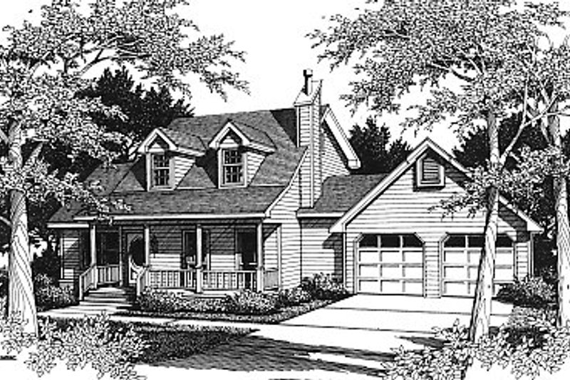 Country Style House Plan - 3 Beds 2 Baths 1650 Sq/Ft Plan #14-217
