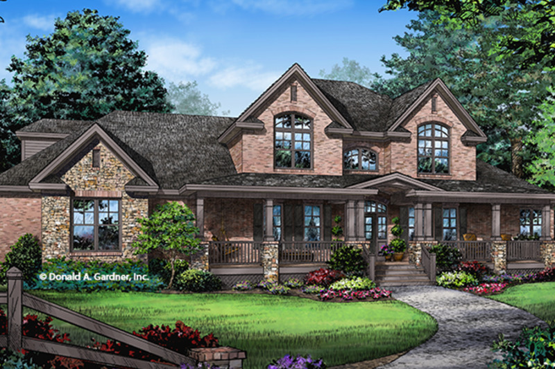 Country Exterior - Front Elevation Plan #929-1000 - Houseplans.com