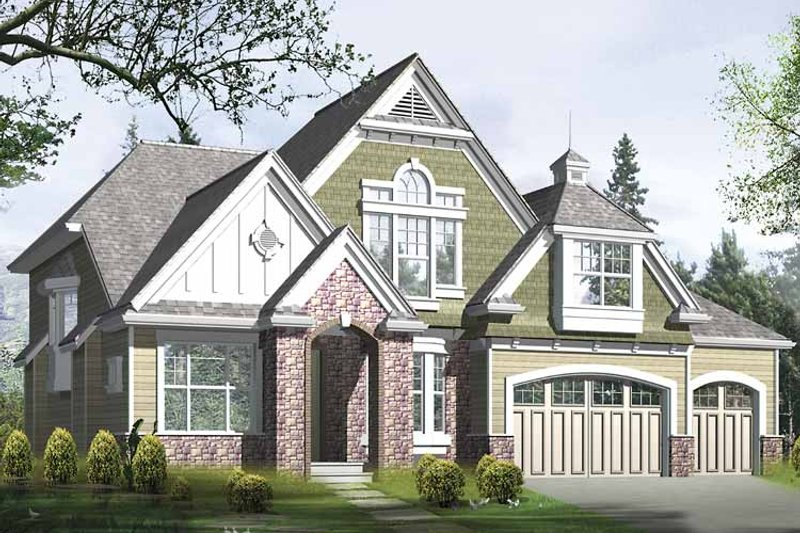 Country Exterior - Front Elevation Plan #132-415 - Houseplans.com