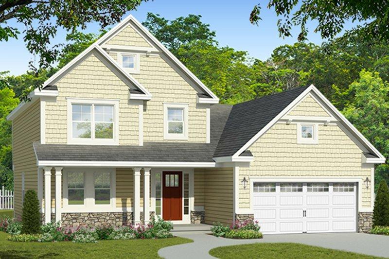 Colonial Exterior - Front Elevation Plan #1010-182 - Houseplans.com