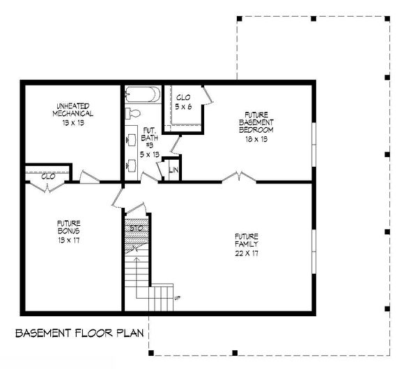 Dream House Plan - Country Floor Plan - Lower Floor Plan #932-203