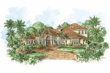 Mediterranean Exterior - Front Elevation Plan #1017-63