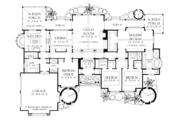 Craftsman Style House Plan - 4 Beds 4 Baths 3200 Sq/Ft Plan #929-898 Floor Plan - Main Floor Plan