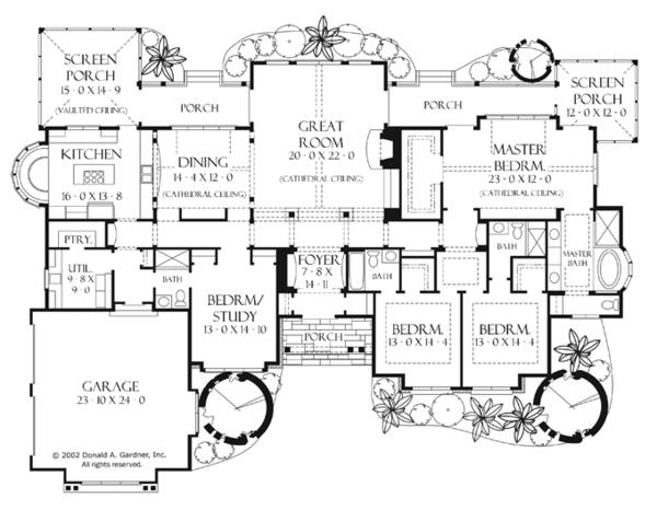 Craftsman Floor Plan - Main Floor Plan #929-898