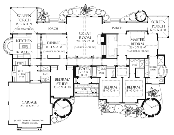Craftsman Floor Plan - Main Floor Plan Plan #929-898