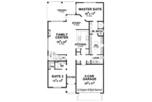 Country Floor Plan - Main Floor Plan Plan #20-2252