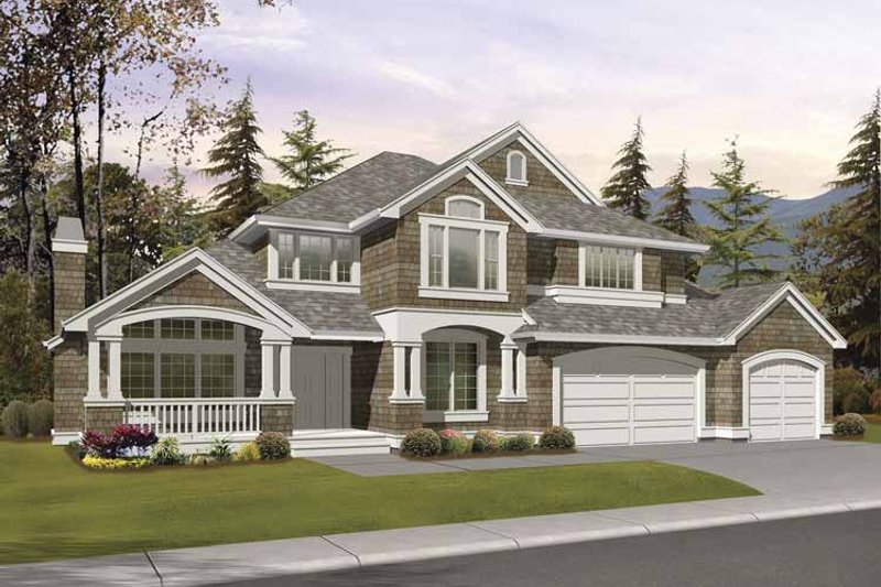 Home Plan - Craftsman Exterior - Front Elevation Plan #132-389