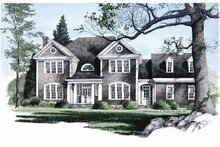House Design - Colonial Exterior - Front Elevation Plan #137-304