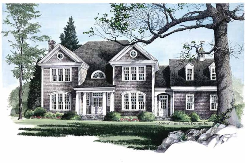 House Plan Design - Colonial Exterior - Front Elevation Plan #137-304