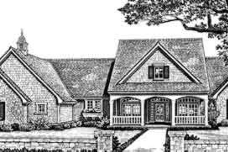 Southern Exterior - Front Elevation Plan #310-263