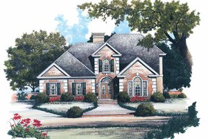 Colonial Exterior - Front Elevation Plan #429-106
