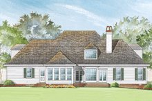 Architectural House Design - Rear view - 3100 square foot Southern home