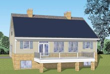 Craftsman Exterior - Rear Elevation Plan #1029-61