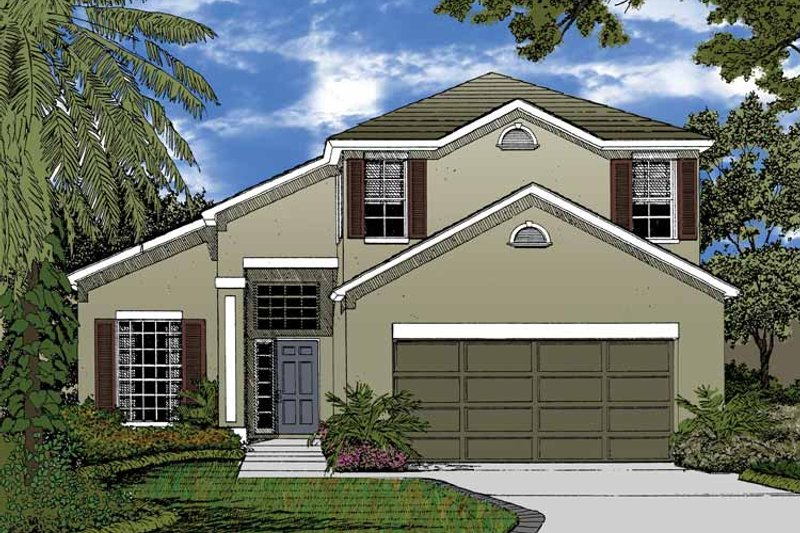 Country Exterior - Front Elevation Plan #1015-44