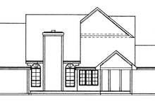 Country Exterior - Rear Elevation Plan #334-126