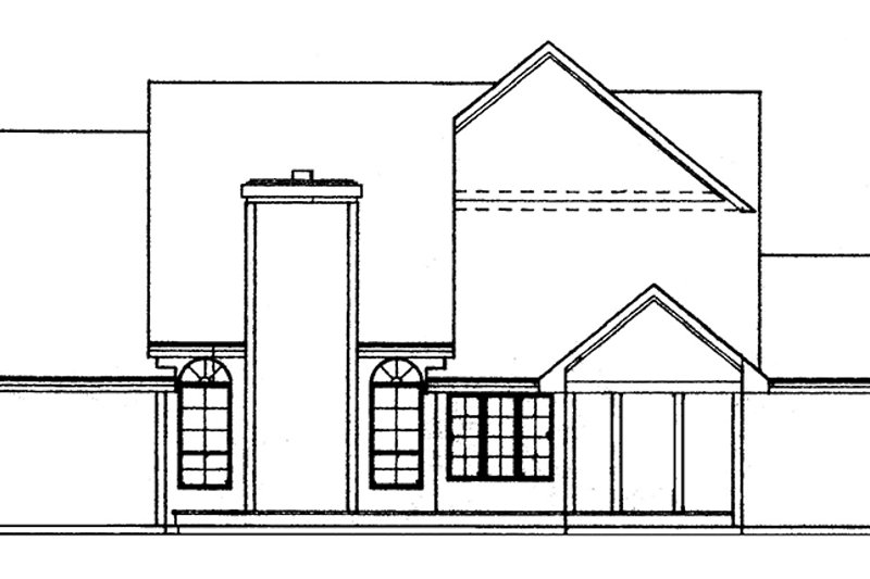 Country Exterior - Rear Elevation Plan #334-126 - Houseplans.com