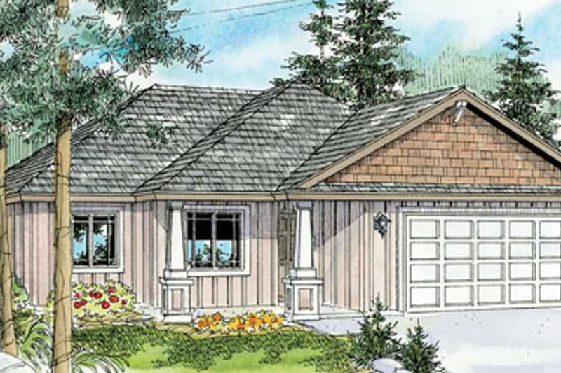 Dream House Plan - Craftsman Exterior - Front Elevation Plan #124-775