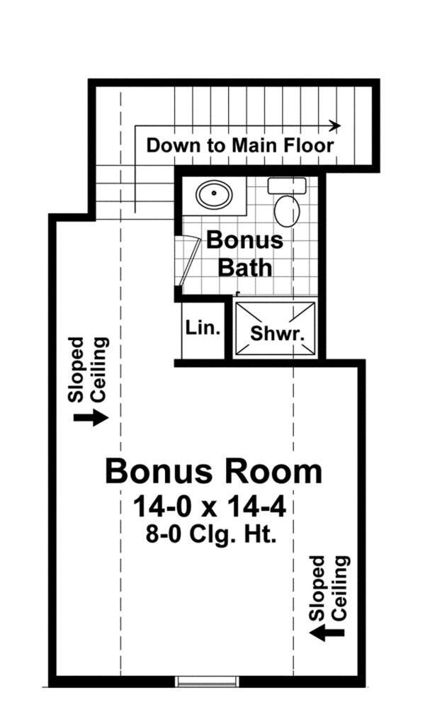 Craftsman Floor Plan - Other Floor Plan #21-432