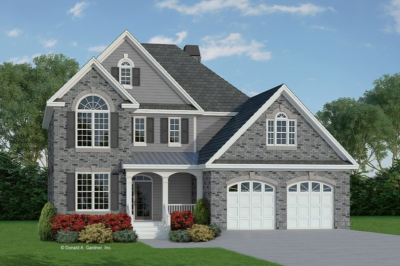 House Plan Design - Traditional Exterior - Front Elevation Plan #929-45