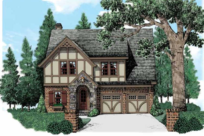 European Exterior - Front Elevation Plan #927-543