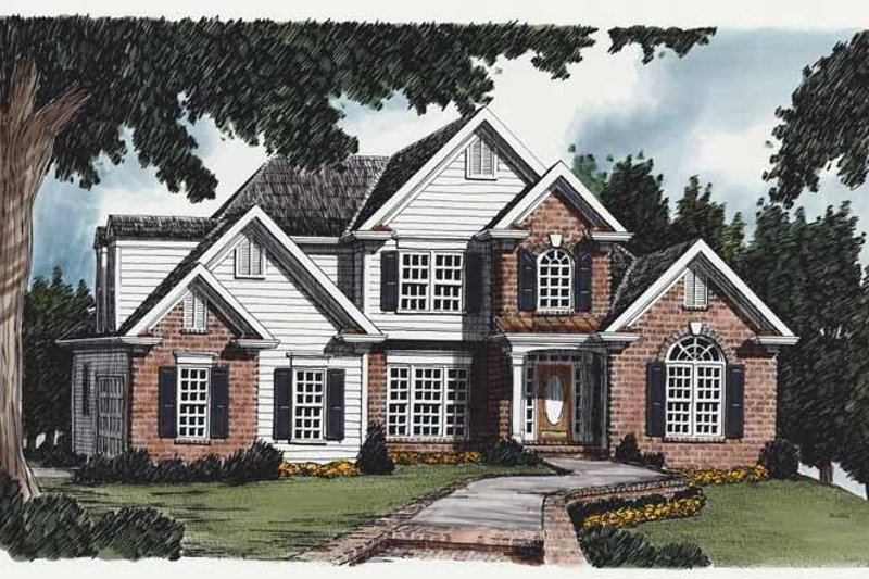 Colonial Exterior - Front Elevation Plan #927-205