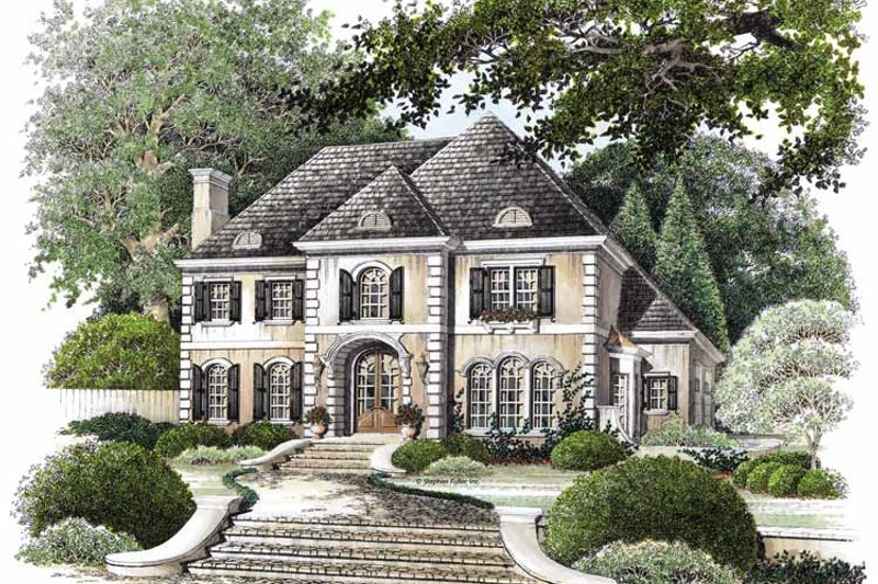Country Exterior - Front Elevation Plan #429-72 - Houseplans.com