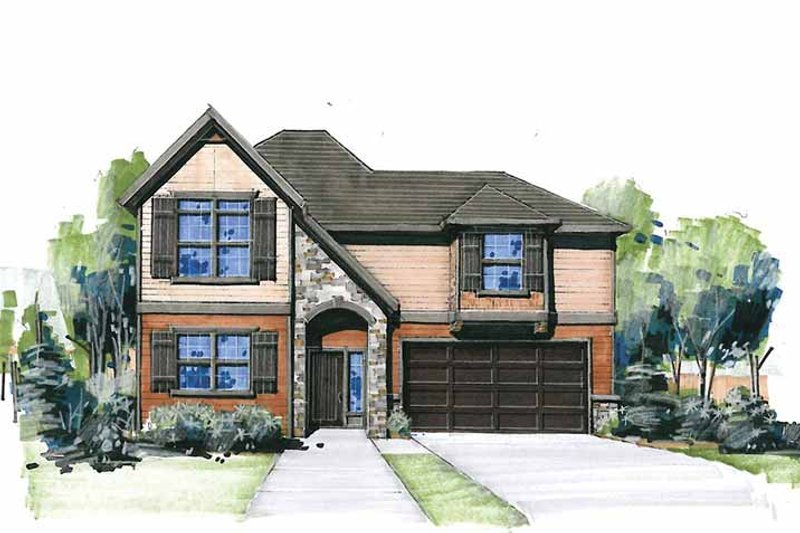 Traditional Exterior - Front Elevation Plan #509-300 - Houseplans.com