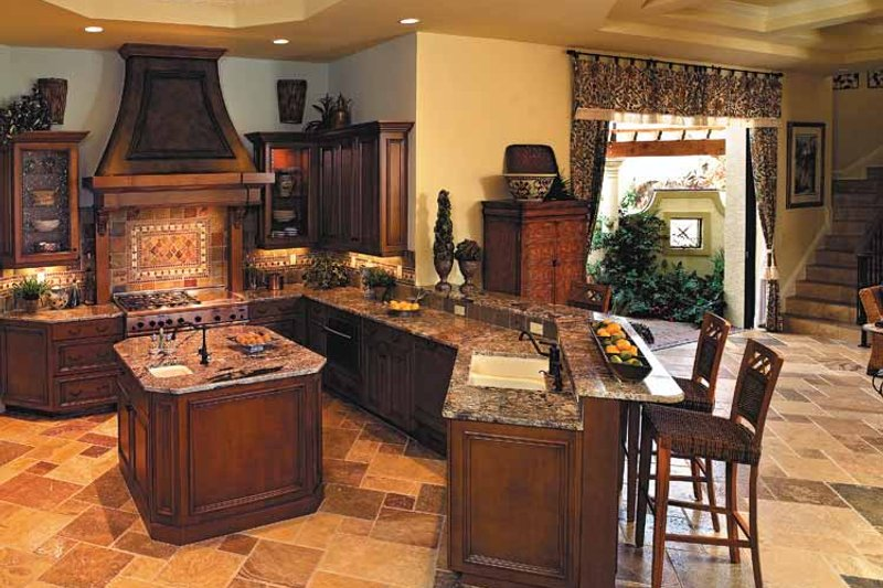 Mediterranean Interior - Kitchen Plan #930-353 - Houseplans.com